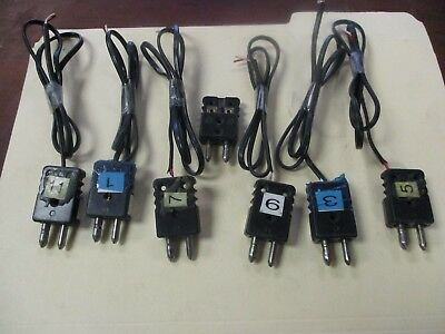 Used Black 2-pole Thermocouple Connector's (QTY 7)