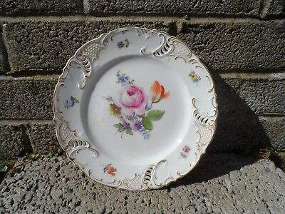 Antique French porcelain - rare Sarreguemines hand painted 19th century plate