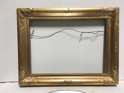 """VTG. Arts and Crafts Picture Frame Gilt Newcomb Macklin Style Fits 10"""" x 14"""""""