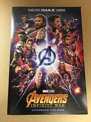 "Avengers: Infinity War ORIGINAL S/S 13""x19"" IMAX Movie Poster Hemsworth Evans"