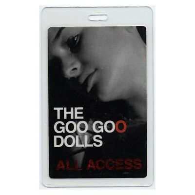 Goo Goo Dolls authentic concert tour Laminated Backstage Pass ALL ACCESS