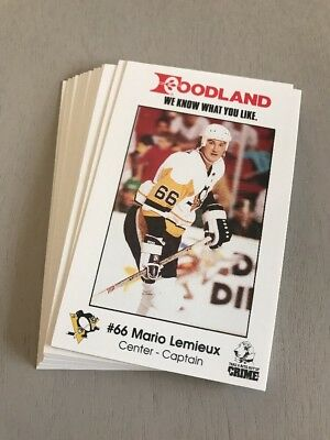 1989-90 Pittsburgh Penguins Foodland Team Set Of 17 Cards - Mario Lemieux
