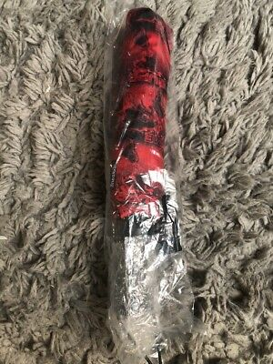 "SUPREME x SHEDRAIN World Famous Umbrella RED 54"" Box Logo BOGO 100% BRAND NEW"