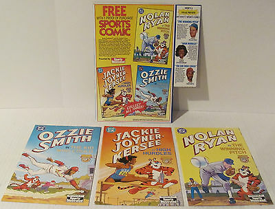 1992 Jackie Joyner, Nolan Ryan & Ozzie Smith Sports Illustrated 3 Comics + Adver
