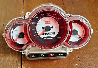 Aprilia Sr50 Ditech Sr 50 Speedo Clock Set Only 3000 Miles !!! Free Post
