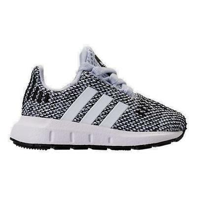 30bd9ea6f BOYS  TODDLER ADIDAS Swift Run Casual Shoes Grey White Gray Size 6 ...