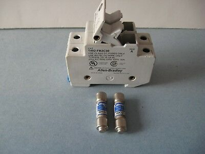 Fuse Holder A&B Allen-Bradley Series A Model no.1492-FB2C30 with 1A Fuses PLC