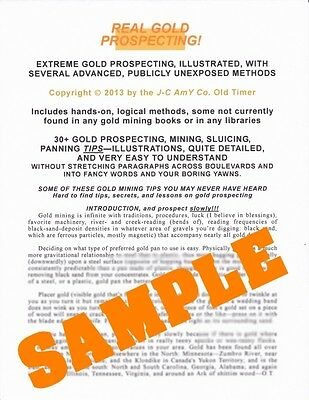 Gold prospecting tutorial mining lessons panning illustrations CDs Happy Nw Year