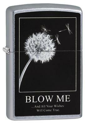 Zippo Windproof Dandelion Blow Me Lighter, Wishes, 29621, New In Box