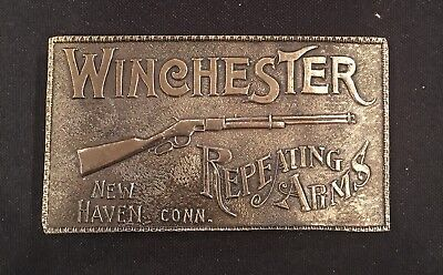 Vtg.1979 Winchester Repeating Arms Belt Buckle Lmt.Edition~Brass~NEW!