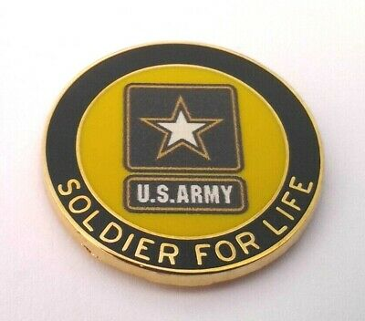 RETIRED US ARMY SOLDIER FOR LIFE Military Veteran Hat Pin 14629 HO
