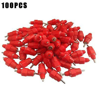 100X Poultry Drinking Nipples Chicken Hen Auto Water Screw In Style Drinkers BE