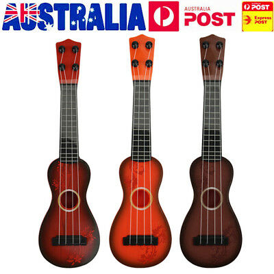 AU Kids Acoustic Guitar 4 String Beginners Practice Music Instruments Toys Gifts