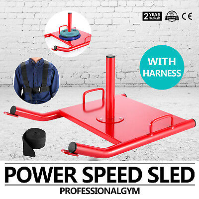 Sports Fitness Weight Sled Agility Strength Training Speed With Padded  Harness