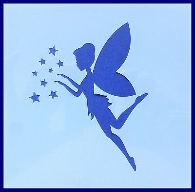 Flexible Stencil *FLYING FAIRY* Small or Medium Card Making Crafts Stars