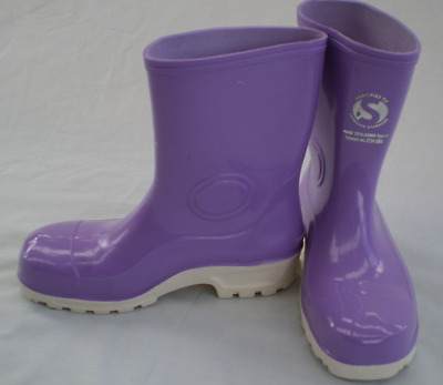 Womens Purple steel toe Gumboots (short cut)