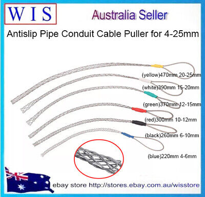 Galvanized Metal Cable Socks Antislip Pipe Conduit Cable Puller for 4-25mm