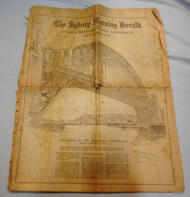 #t114.  Morning Herald Newspaper March 19 1932 -Sydney Harbour Bridge Supplement