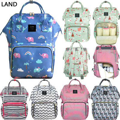UK LAND Mummy Backpack Large Baby Diaper Bags Nappy Multifunctional Changing Bag