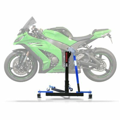 Center Spider Lift ConStands Power Evo Kawasaki ZX-10R 11-15 blue Centre
