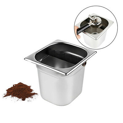Stainless Steel Coffee Grounds Knock Out Box Espresso Waste Bin Recycle Holder