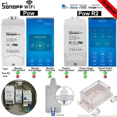 Sonoff POW POW R2 Real Time Energy Monitoring Consumption Timing Remote Control