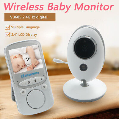 VB605 2.4GHz Wireless Digital LCD Baby Monitor Audio Video Night Vision Camera