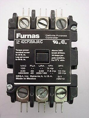 Carrier Furnas Contactor 42CF35AJAIC 24 volt X13060035417 Ships the Same Day