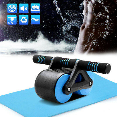 AU Fitness Wheel Roller Abdominal Waist Workout Exercise Gym With Free Mat Pad