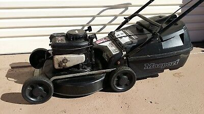 lawn mower Masport 4 stroke Mulch or Catch starts 1st pull & runs well