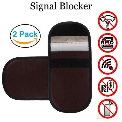 2x Car Key Signal Blocker Pouch RFID Blocking Protection Security Fob Protection