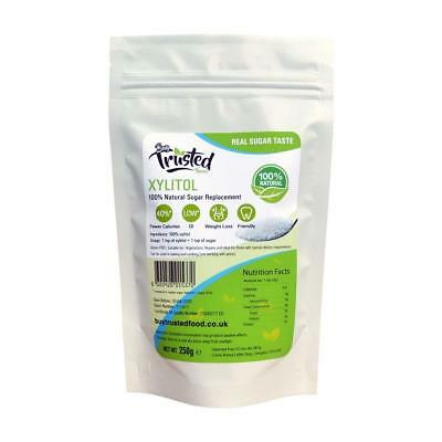 Xylitol 250g - Low Calories 100% Natural Sugar Replacement