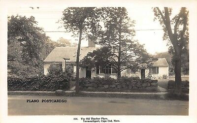 "Cape Cod, Massachusetts ""Old Thacher Place""  Rppc Real Photo Postcard"