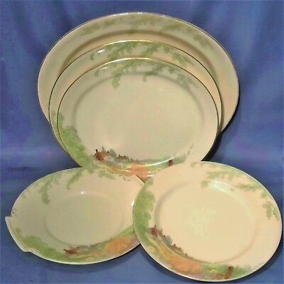 Crownford Dorset Serving Plates / Platters - 5 Mixed Sizes - Vintage 1930s