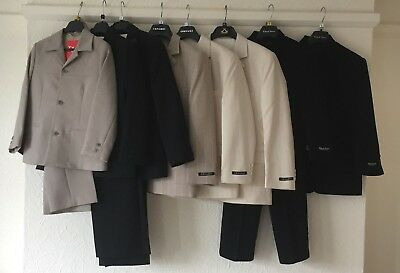 *NEW* JOB LOT of 8 BOYS SUITS ALL BRAND NEW WITH TAGS - age 7yrs to 10yrs