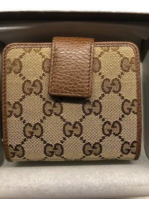 59fbe2a965b4 Gucci 346056 GG Canvas Zip Around French Wallet, Authentic, NWT  100%Authentic