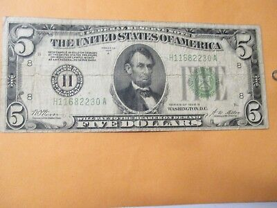 1928-B $5 Federal Reserve Note (Tough Note)