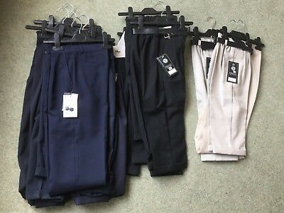 JOB LOT of 26 PAIRS *NEW* BOYS DRESSY TROUSERS - 2yrs to 8yrs - WITH TAGS