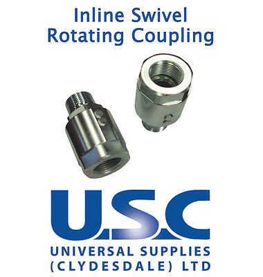 Stucchi Hydraulic In Line Rotating Coupling Swivel Joint Male Female BSP Adaptor
