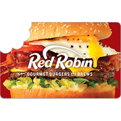 Red Robin Gift Card $100 Value, Only $92.00! Free Shipping!