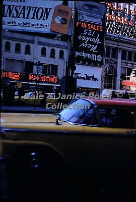 SG242 35mm Slides 1960 Group of 5 Christmas in New York City Times Square