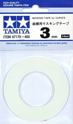 Tamiya Masking Tape for Curves 3mm 87178 RC R/C Body Modelling F/S Free Shipping