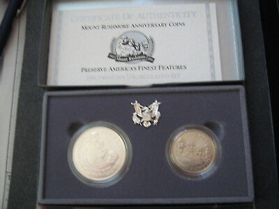 1991 Us Mint Mount Rushmore 2 Coin Unc. Set   #zf