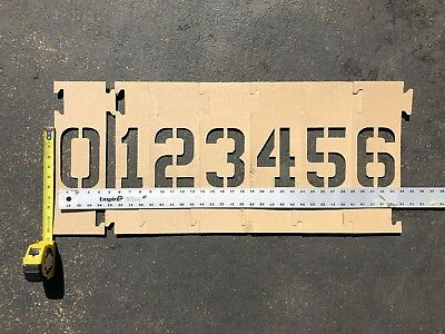 Interlocking 6 inch tall Cardboard Number Stencil Set