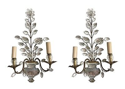 Maison Bagues with original label pair of sconces wall lamps lights antiques