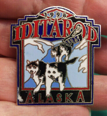 1998 Alaska Iditarod dog sled race, large tie tac Large lapel Pin, 1000 miles