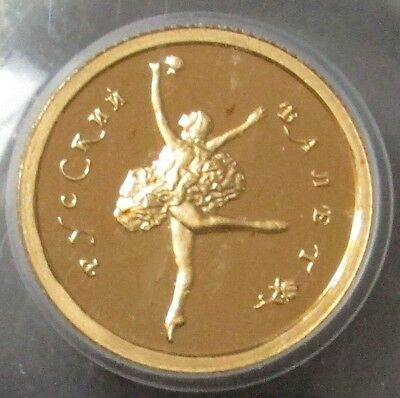 1994 Gold Russia 10 Roubles Ballet Ballerina Coin Pcgs Proof 69 Ultra Cameo
