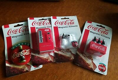 1997 Coca Cola Tunes Musical Magnet Vending plus 3 others!!! New