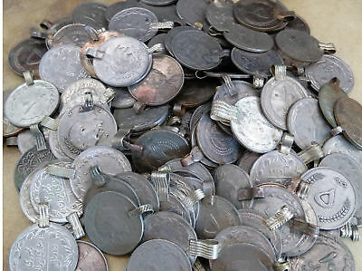 50x Vintage Tribal Kuchi Coins Scalloped Edges DIY Supplies .88/""