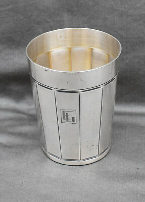 TIMBALE EN ARGENT MASSIF MINERVE ART DECO ( french silver cup )
